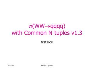  (WW qqqq)  with Common N-tuples v1.3