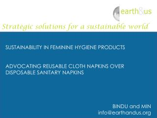 SUSTAINABILITY IN FEMININE HYGIENE PRODUCTS