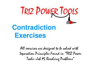 TRIZ POWER TOOLS