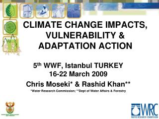 CLIMATE CHANGE IMPACTS, VULNERABILITY & ADAPTATION ACTION