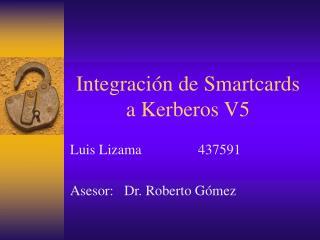 Integración de Smartcards a Kerberos V5