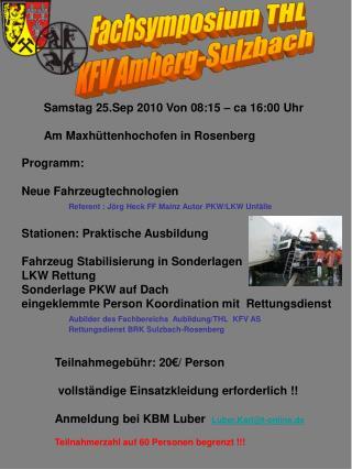 Fachsymposium THL  KFV Amberg-Sulzbach