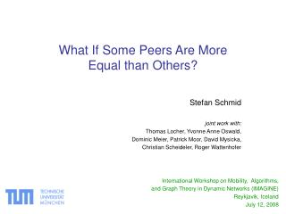 What If Some Peers Are More Equal than Others?