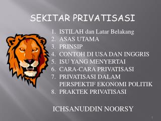 SEKITAR PRIVATISASI