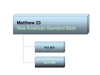 Matthew 23 New American Standard Bible