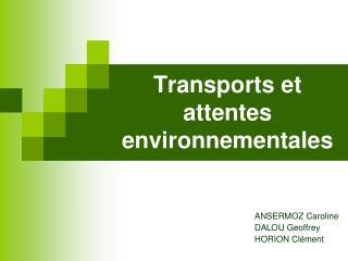 Transports et attentes environnementales