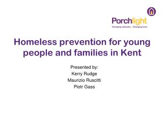 Homeless prevention for young people and families in Kent