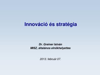 Innováció és stratégia