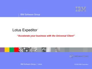 Lotus Expeditor