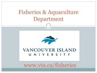 Fisheries & Aquaculture Department