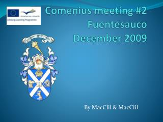 Comenius meeting #2 Fuentesauco December 2009