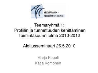 Marja Kopeli  Katja Komonen