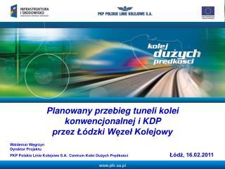 Planowany przebieg tuneli kolei konwencjonalnej i KDP  przez Łódzki Węzeł Kolejowy