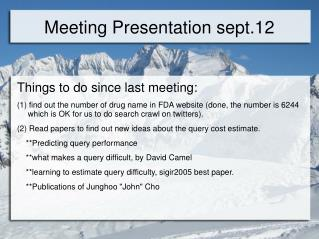 Meeting Presentation sept.12