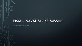 NSM – naval strike missile