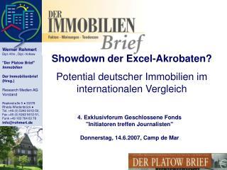 Showdown der Excel-Akrobaten? Potential deutscher Immobilien im internationalen Vergleich
