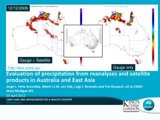 Evaluation of precipitation from reanalyses and satellite products in Australia and East Asia