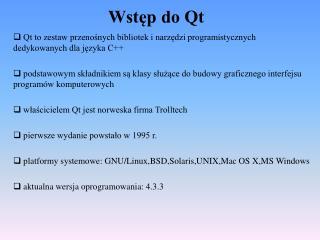 Wstęp do Qt