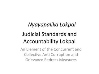 Judicial Standards and Accountability Lokpal