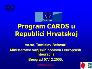 Program CARDS u Republici Hrvatskoj