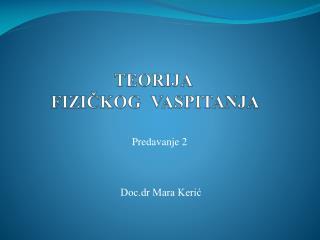 Doc.dr Mara Kerić