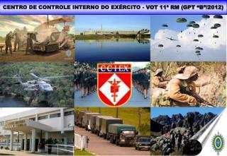 """CENTRO DE CONTROLE INTERNO DO EXÉRCITO -  VOT 11ª RM (GPT """"B""""/2012)"""