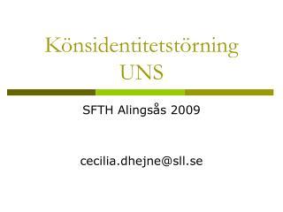 Könsidentitetstörning UNS