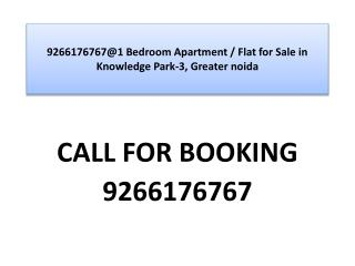 9266176767@1 Bedroom Apartment / Flat for Sale in Knowledge