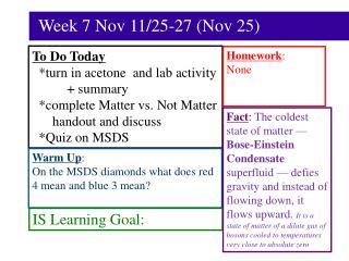 Week 7 Nov 11/25-27 (Nov 25)