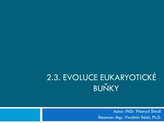 2.3. Evoluce eukaryotické buňky