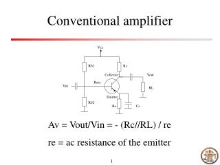 Conventional amplifier