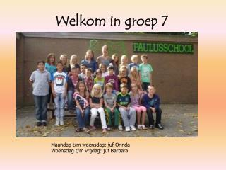 Welkom in groep 7