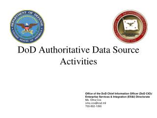DoD Authoritative Data Source Activities