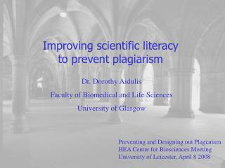 Improving scientific literacy to prevent plagiarism