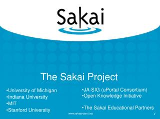 The Sakai Project