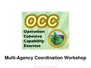 Multi-Agency Coordination Workshop