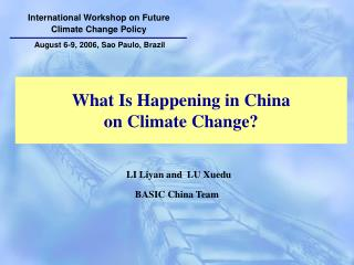 What Is Happening in China  on Climate Change?