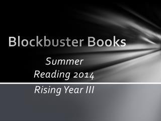 Blockbuster Books