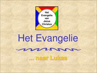 Het Evangelie