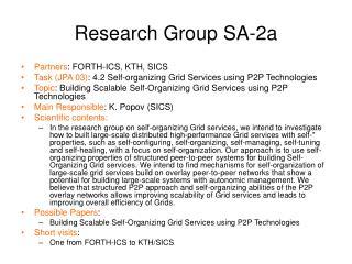 Research Group SA-2a