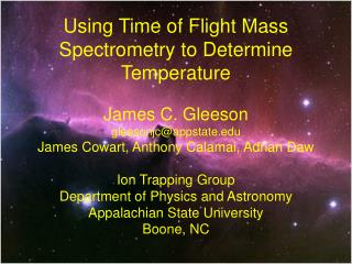 Using Time of Flight Mass Spectrometry to Determine Temperature