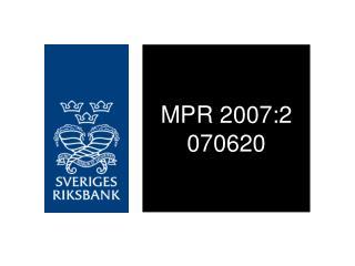 MPR 2007:2 070620