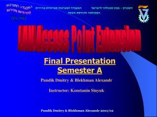 Final Presentation Semester A