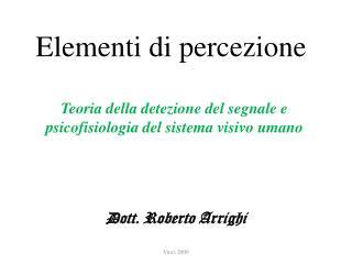 Elementi di percezione