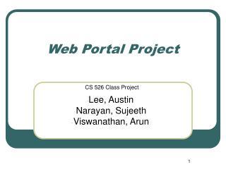 Web Portal Project