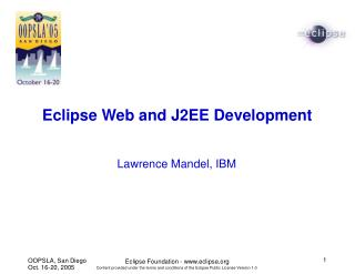 Eclipse Web and J2EE Development