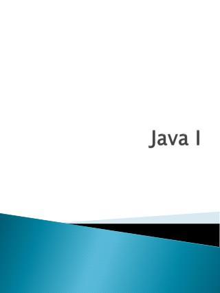 Java I