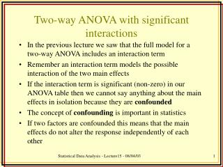 Two-way ANOVA with significant interactions
