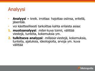 Analyysi