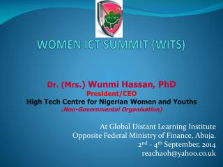 WOMEN ICT SUMMIT (WITS)